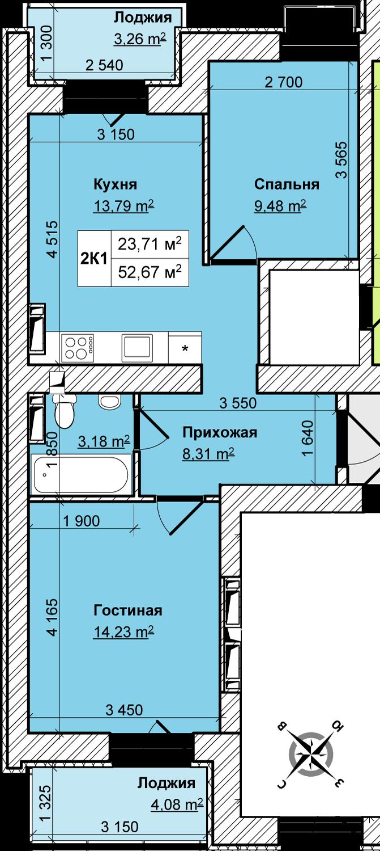схема отопления дома 66м2