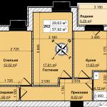 07-8-2комн-57м2-01-схема