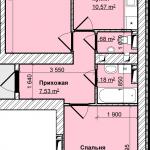 07-8-2комн-58м2-01-схема